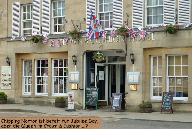 Crown Cushion Chipping Norton Jubilee Day