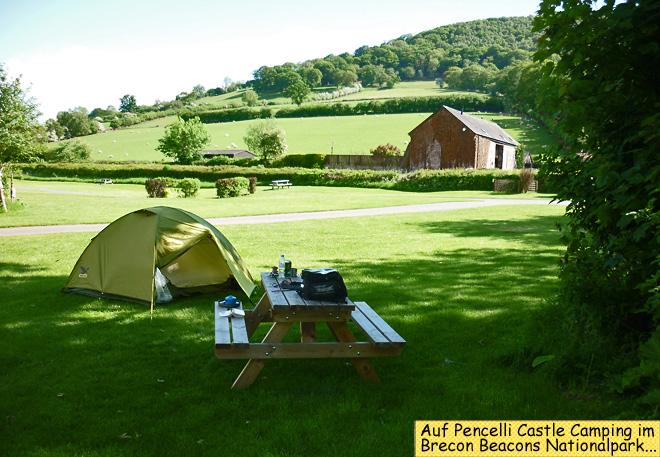 Pencelli Castle Camping Salewa Zelt