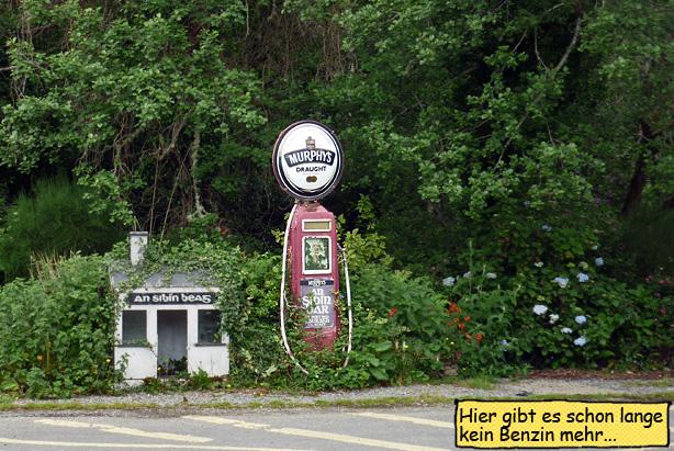 Tankstelle alte Zapfsäule Ring of Beara