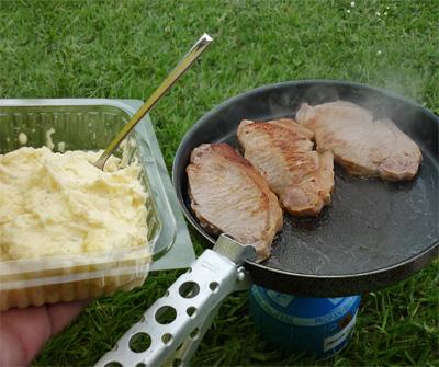 Kotelett und Kartoffelpüree