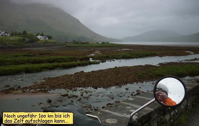 Irland auf dem Motorrad bei Regen