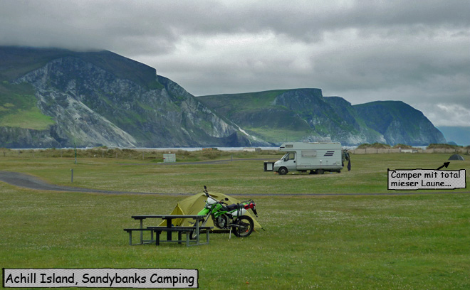 Sandybanks Camping Achill Island Irland