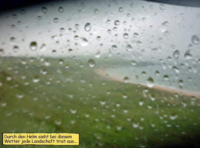 Regenwetter Irland Motorrad