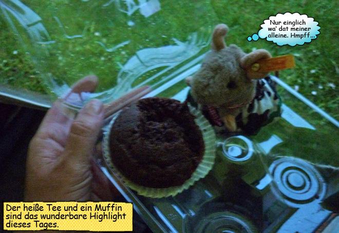 Schokomuffin essen