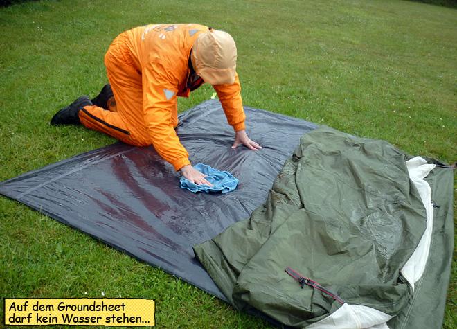 Groundsheet Zelt tent