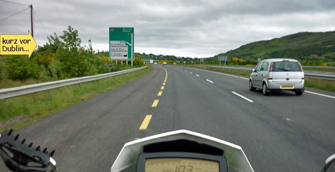 Autobahn bei Dublin