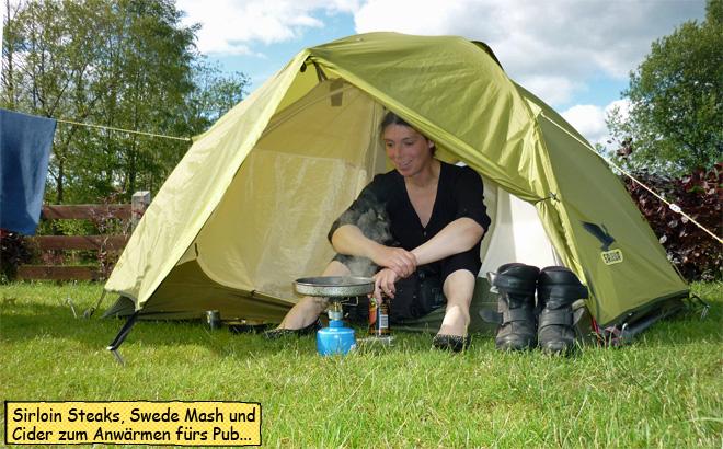 Svenjas Campingküche in Irland