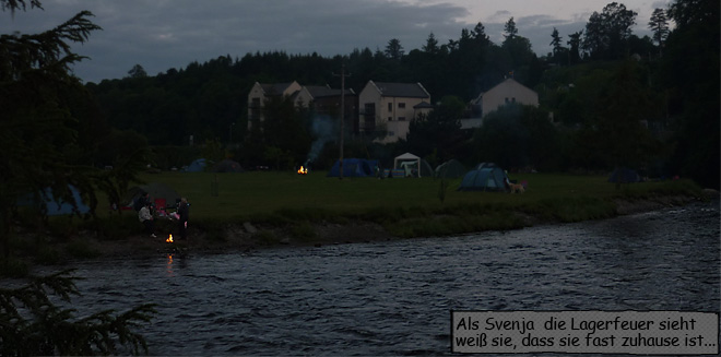 Rathdrum Camping Lagerfeuer
