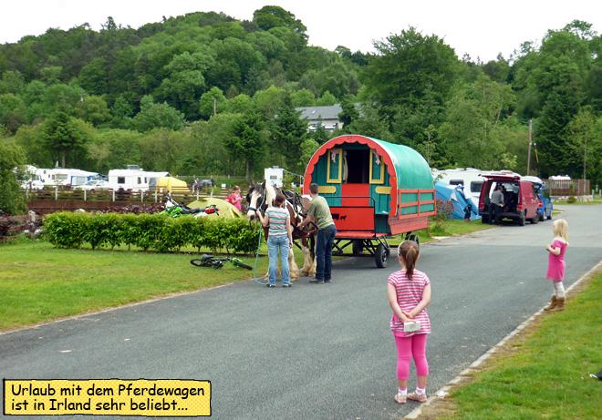 Urlaub mit Pferd und Wagen in Irland