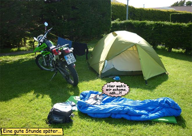 Motorradtour durch Irland mit Zelt
