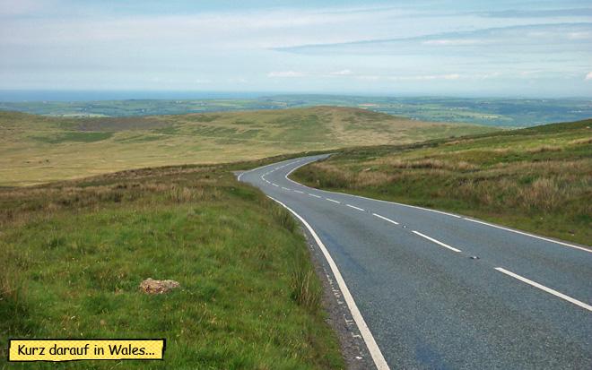 Motorradfahren in Wales