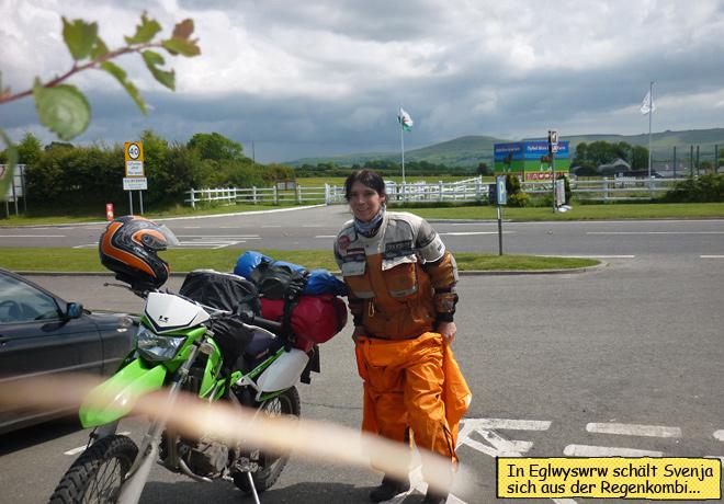 Eglwyswgw Wales Regenkombi Motorrad