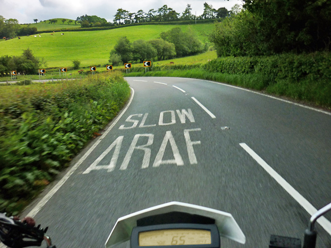 Motorradreise Wales England