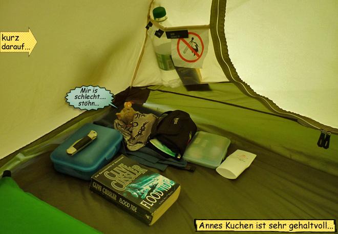 Pieps und Svenja im Zelt