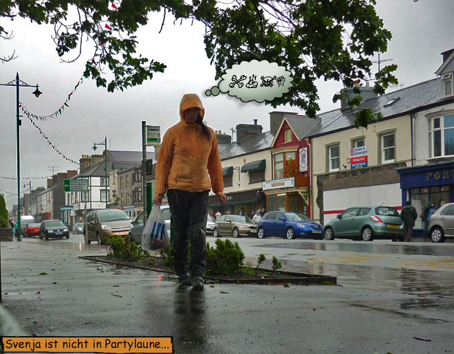 Svenja im Regen