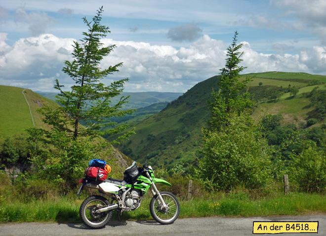 Kawasaki KLX250 Enduro Reise durch Wales