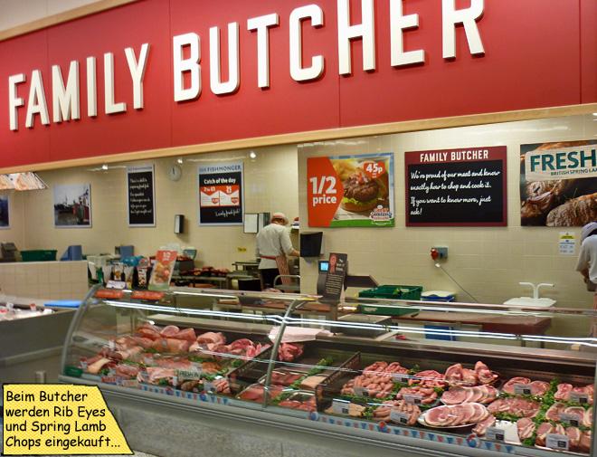 Schlachter Fleischtresen in England