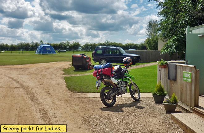 Motorrad Campingplatz