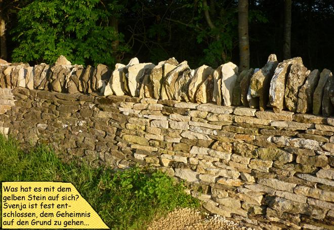 Cotswold Stone Trockensteinmauer