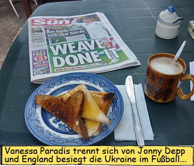 Toast und Kaffee und The SUN