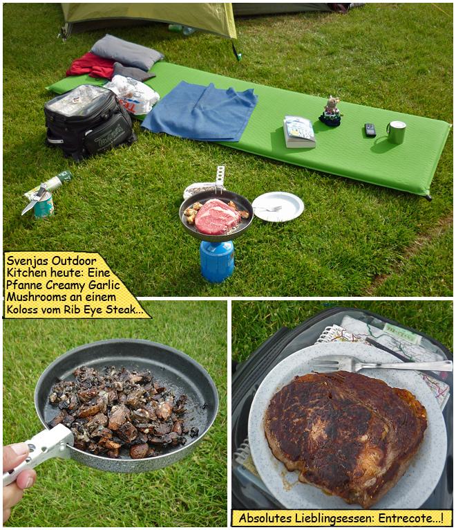 Outdoor Küche Motorradtour mit Zelt