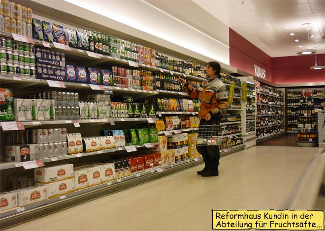 Svenja kauft Alkohol