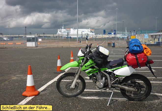 Motorrad Fähre Harwich
