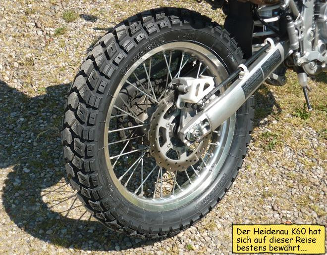 Heidenau K60 Enduroreifen auf KLX250