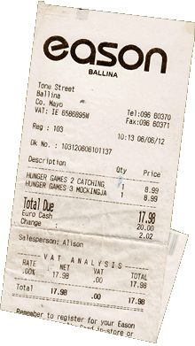 Hunger Games Receipt