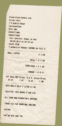 Einkauf Irland