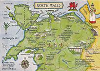 Wales Postkarte