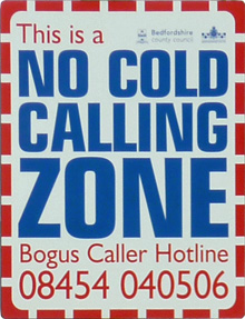 No Cold Calling Zone