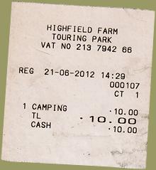 Highfield Farm Park Camping