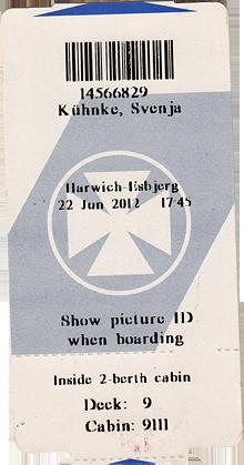 Fährticket Harwich Esbjerg DFDS