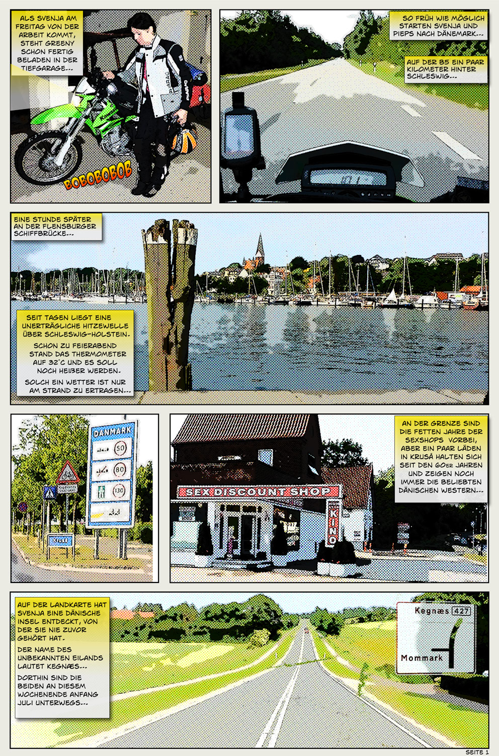 Motorradcomic Reisebericht
