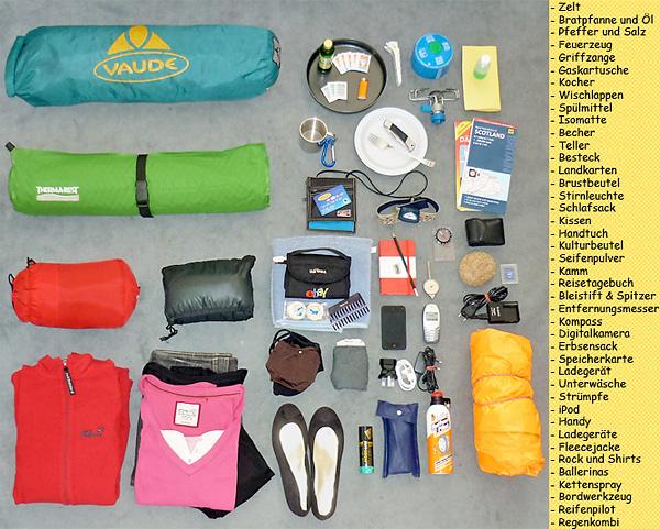 camping packliste zelt