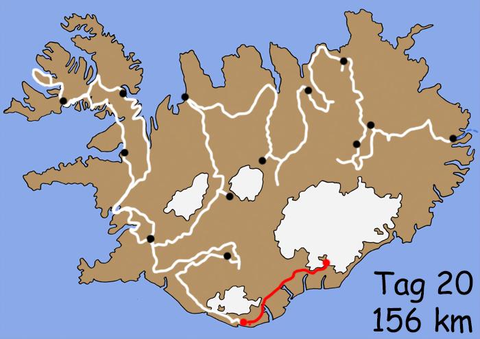 Motorradreise Island